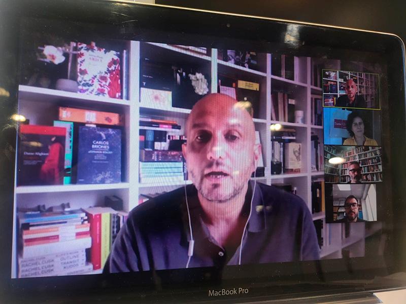 Conversación de Jorge Carrión en CUÉNTALO 2020 con las librerías de Logroño